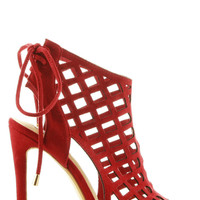 Kay Suede Heels - Red