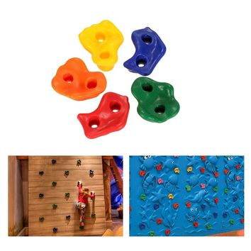 5pcs Rock Climbing Holds Wall Rock Climbing Stones Kit Set Backyard Kids Toys with Mounting Hardware Screws Climbing Accessories