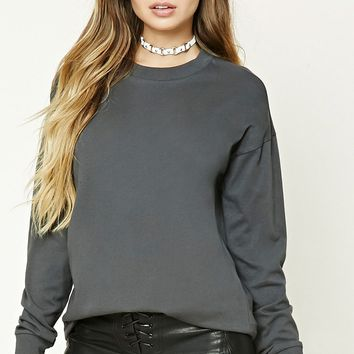 Cotton Dropped-Sleeve Tee
