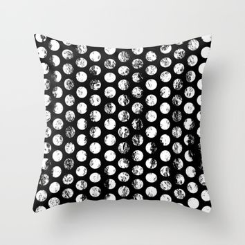 Stamped Spots Throw Pillow by textart