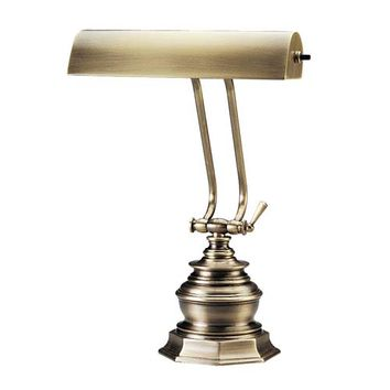 House Of Troy P10-111-71 10-Inch Antique Brass Piano/Desk Lamp