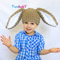 Brown Easter Bunny Hat