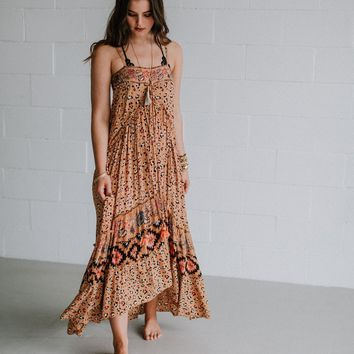 Bohemiam Whispers Maxi Dress - Orange