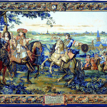 Louis XIV Tapestry Wall Art Hanging