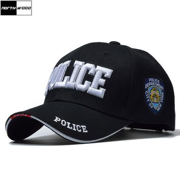 Trendy Winter Jacket [NORTHWOOD] New POLICE Mens Tactical Cap SWAT Baseball Cap Men Gorras Para Hombre Women Snapback Bone Masculino Army Cap Letter AT_92_12