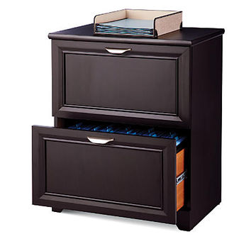 "Realspace® Magellan Collection 2-Drawer Lateral File Cabinet, 30""H x 23 1/2""W x 16 1/2""D, Espresso Item # 547758"