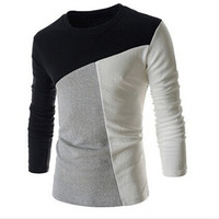 Fashion T-shirt Men Long Sleeve Cotton T-shirt = 1838793284