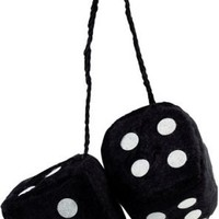 Black Fuzzy Car Dice