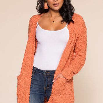 Cozy Beginnings Cardigan - Peach