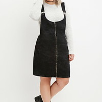 Plus Size Zip-Front Overall Dress
