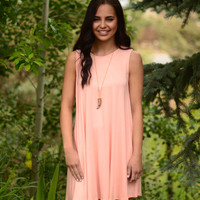 Forever In Love Dress- Peach