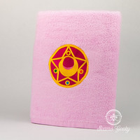 "Sailor Moon ""Star Compact"" Inspired - Embroidered Bath Towel"