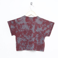 Motel Vintage Box Crop Roll Sleeve Tee 0036