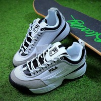 FILA Disruptor II 2 White Black Grey Shoes FW0165-031 - Best Online Sale
