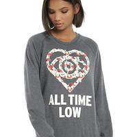 All Time Low Floral Girls Sweatshirt