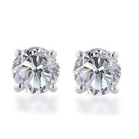 10k Gold Round-Cut Diamond Studs (1/2 cttw)
