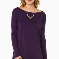 COZY LONG SLEEVE TOP IN PURPLE BY PIKO