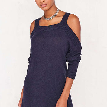 BDG Cold Shoulder Dolman Sweater Mini Dress - Urban Outfitters