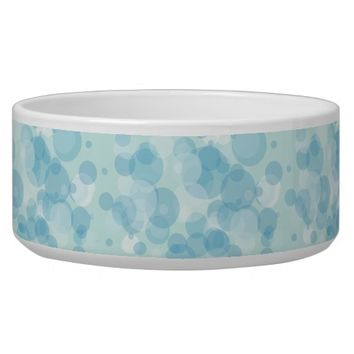 Blue Bubbles Dog Food Bowl