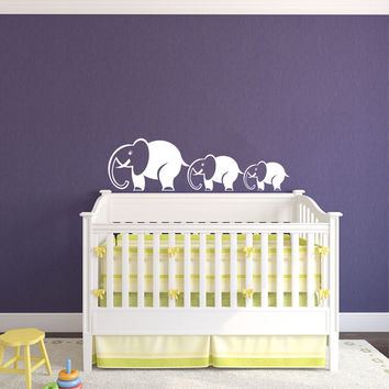 Mom and Baby Elephant Animal Wall Vinyl Decal Sticker Children Boy Girl Kids Baby Room Nursery Design Interior Decor Bedroom SV4542