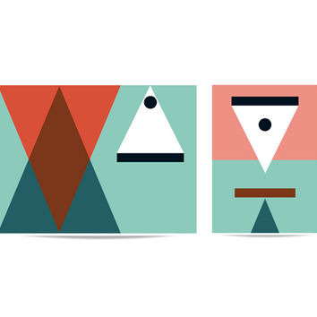 Puzzle set 'Triangles. One up and one down'
