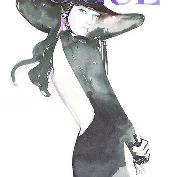 Vogue Cover Art Archival Prints Four sizes. Watercolour Fashion Illustration Prints. Vogue Art. Vogue Cover Art