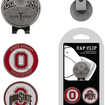 NCAA Ohio State Buckeyes Hat Clip & 2 Magnetic Golf Ball Markers