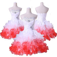 Grace Karin Quinceanera Short tutu Prom Dress Formal Prom Bridesmaid Party Ball Gown Dresse = 5739033729