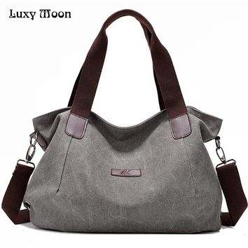 Woman Canvas Bags Casual Shoulder Bag Fashion Portable Big Tote Female Large Capacity Leisure Handbag Lady Messenger Bags  ZD622