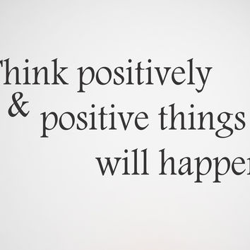 Think Positively wall decal