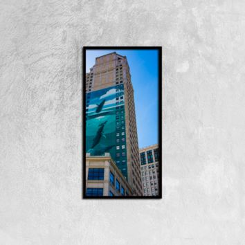 Detroit Building - Canvas Wall Art 12x24