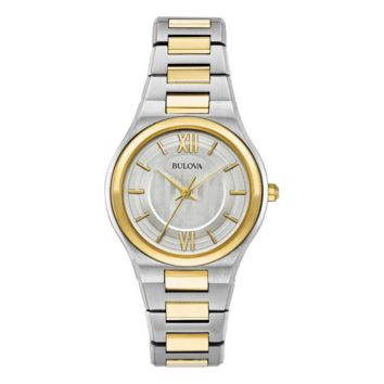 Bulova Two Tone Stainless Steel Ladies Watch