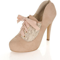 KERRY Cream Town Shoe - Heels - Shoes - Miss Selfridge