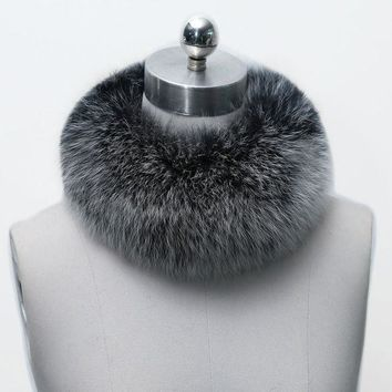 Winter Warm Women Fashion Faux Fox Fur Collar Scarf Shawl Stole Furry Neck Wrap Circles 10 Colors