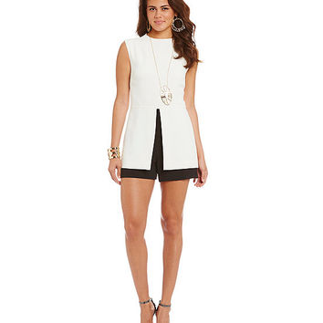 Laundry By Shelli Segal Peplum Romper | Dillards