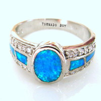 Products · Size 9 Lab. Pacific Blue Fire Opal 5 CT & Cubic Zirconia Sterling Silver 925 Gemstone Ring · TORNADO'S TREASURES's Store Admin