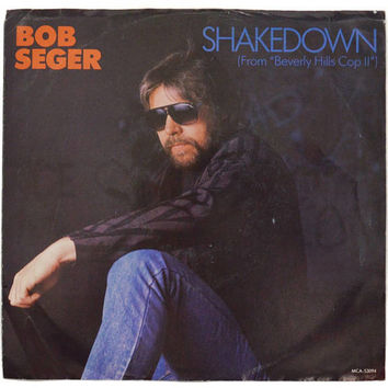 Vintage 80s Bob Seger Shakedown Picture Sleeve 45 RPM Single Record Vinyl