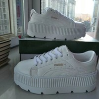 """Puma x Fenty Rihanna"" Women Fashion Casual Solid Color Thick Bottom Piatforam Plate Shoes Sneakers"