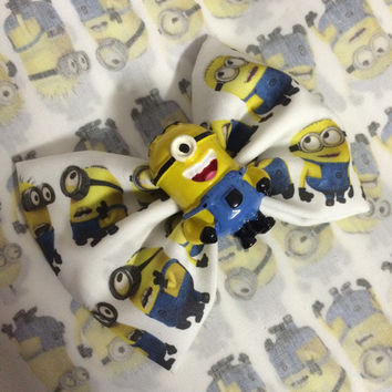 Minion hair bow / dispicable me bows