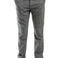 Brighton Trouser - Grey Herringbone