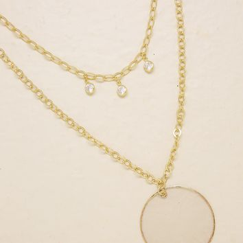 Darling Coin Shell Layered Chain Necklace