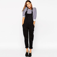 Black Strap Pocket Jumpsuit