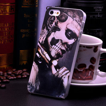 Cute Punk Skull Hard Case Phone Protective Cover for iphone 5 5s