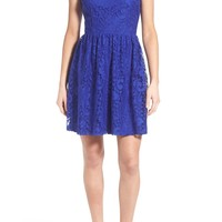 Speechless Lace High Neck Skater Dress | Nordstrom