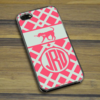 Lacrosse iPhone/Galaxy Case Monogrammed Lax Dog Weave | Lacrosse Phone Cases | Lacrosse iPhone 4/4S Cases | Lacrosse iPhone 5/5S Cases | Lacrosse Galaxy S4 Cases | Lacrosse Galaxy S5 Cases