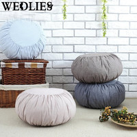 Japanese Style Cotton Cushion Tatami Sofa Cushion Washable Meditation Cushion Yoga Cushion Home Room Floor Decorative Textiles