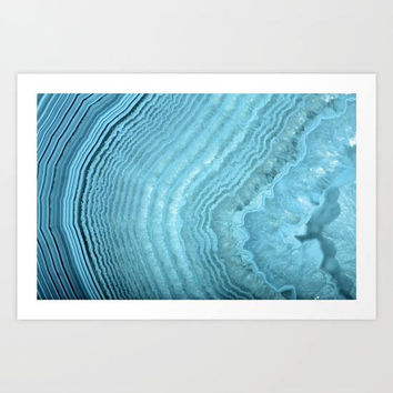 Light Blue Agate Art Print, Blue Crystal Geode Art Print, Spiritual Wall Art, Blue Abstract Art Print, Blue Agate Wall Art, Blue Artwork