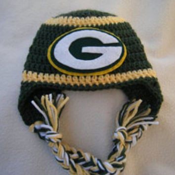 Crocheted Green Bay Packers New Orleans Saints (Choose your team. baby  stuff 👶 dfc7fd782
