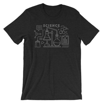 Science Shirt Chemistry Infographic Graphic Tee Geek Gift Simple Graphic Design Short-Sleeve Unisex T-Shirt