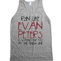 Run For Evan Peters-Unisex Athletic Grey Tank